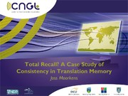 Total Recall? A Case Study of Consistency in Translation Memory